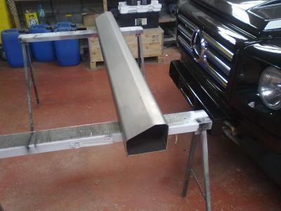 Rear bumper ...before the No plate recess was welded in