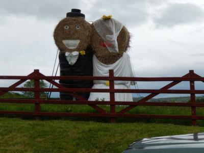 The Happy couple in the field next door