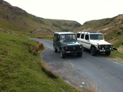 Enroute to Strata Florida with Mark (300GD SWB)